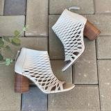 Anthropologie Shoes   Anthropologie Seychelles Cage High Heel Sandals 6   Color: Cream   Size: 6