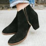 Madewell Shoes   Madewell Billie Ankle Bootie: Black Suede Leather   Color: Black   Size: 8.5