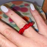 Urban Outfitters Jewelry | Homemade Clay Ring | Color: Pink/Red | Size: 8
