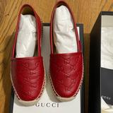Gucci Shoes | Gucci Red Leather Espadrille | Color: Red | Size: 6