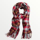 J. Crew Accessories | J. Crew X Abraham Moon Merino Wool Plaid Scarf | Color: Blue/Red/Yellow | Size: Os