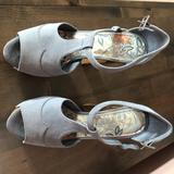 Jessica Simpson Shoes | Dany Suede Wood Platform Sandals | Color: Blue | Size: 6