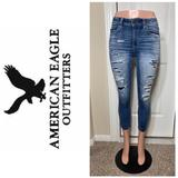 American Eagle Outfitters Jeans | American Eagle High Rise Jegging | Color: Silver | Size: 4