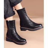 BUTITI Women's Casual boots BLACK - Black Grommet-Accent Combat Boot - Women