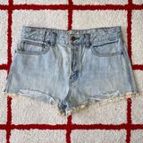 Free People Shorts | Free People Vintage High Rise Mini Jean Shorts | Color: Blue | Size: 30