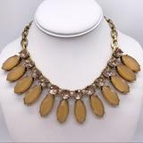 J. Crew Jewelry   J. Crew Yellow Teardrop & Crystal Necklace   Color: Gold/Yellow   Size: Os