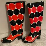 Kate Spade Shoes | Kate Spade New York Knee-High Rain Boots | Color: Black/Red | Size: 7