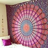 Free People Wall Decor   New Home Decor Wall Tapestry   Color: Gray/White   Size: Os