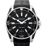 Gucci Accessories | Gucci Authentic Dive Black Dial Black Rubber Watch | Color: Black | Size: Os