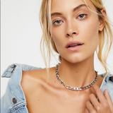 Free People Jewelry | Free People Lost Boys Chain Choker Necklace | Color: Silver | Size: Os