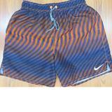Nike Swim | Nike Mens Lined Swim Shorts Polyester Navy | Color: Blue/Orange | Size: M
