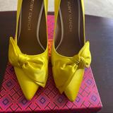 Tory Burch Shoes   ***New In Box Tory Burch Bow Satin Pump!   Color: Yellow   Size: 9.5