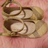 Burberry Shoes | Burberry Mary Jane Style Canvas Shoes Size 23 | Color: Cream | Size: Eu 23