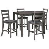 Signature Design Bridson Square Counter TBL Set (Set of 5) - Ashley Furniture D383-223