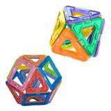 Topteng 51 Pcs Mini Magnetic Toy Building Blocks Set 3D Tiles DIY Toys Great Gift, Size 2.8 H x 6.4 W x 4.8 D in | Wayfair T002-005~03WF