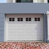 ATS Garage Door Magnetic Panels, Two Car Garage Door Decorative Faux Window Decals, Weatherproof Magnets Hardware Metal Garage Door Windows in Black