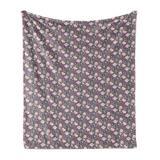 East Urban Home Ambesonne Cartoon Soft Flannel Fleece Throw Blanket Funny Pigs Along Hey Hello Words & Hearts Raspberries Flowers Girls Love Cozy Plush For Indoor Fleece