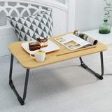 honer Bed Table - Multifunctional Lap Table Breakfast Bed Table Service Tray Laptop Computer Table Sofa Foldable Legs 100% Solid Bamboo in Black