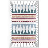 Triangle & Blue Fitted Mini Crib Sheet By Sweet Jojo Designs in Yellow, Size 5.0 H x 24.0 W x 38.0 D in   Wayfair MiniSheet-Tri-BU-YW