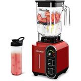 365usdeal Countertop Blender, Professional High-Speed Blender w/ 9 Speed Settings, 1800W Base in Red, Size 18.0 H x 8.66 W x 7.48 D in | Wayfair