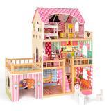 TTXXHH Dollhouse, Girl'S Gift, w/ Matching Small Objects, Size 35.4 H x 11.8 W x 35.0 D in | Wayfair 06-txhEL-WG151