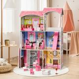 TTXXHH Dream Girl Doll House, Pink Doll House, Size 45.86 H x 9.45 W x 31.49 D in   Wayfair 06-txhEL-WG154
