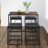 Vifah Riley 4 - Person Counter Height Dining Set Wood/Metal/Upholstered Chairs in Black/Brown/Gray, Size 34.0 H in   Wayfair V817SET1