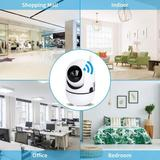 Taykoo Wifi Smart Home Security Camera 1080P Indoor Wireless Baby Pet Monitor w/ Phone App, Night Vision,2-Way Audio For Nanny in White | Wayfair