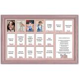 Red Barrel Studio® School Years Picture Frame - Personalized Name & Date - Full 18 Years in Pink, Size 13.0 H x 21.75 W x 1.0 D in   Wayfair