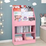 "Ebern Designs 39.4""H X 24.6""W Wood Standard Bookcase w/ Tilt Bookshelf Wood in Pink, Size 39.4 H x 24.6 W x 11.8 D in | Wayfair"