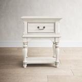 Birch Lane™ Kelton Leg 1 Drawer Nightstand Wood in Brown/Green/White, Size 30.0 H x 24.0 W x 17.0 D in   Wayfair ROHE3584 40814448