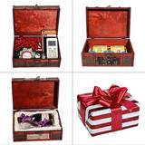 Red Barrel Studio® Treasure Box,Pirate Small Wooden Box For Jewelry Storage,Cards Collection,Gifts & Home Decoration red | Wayfair