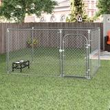 Tucker Murphy Pet™ Merlin DIY Chain Link Yard Kennel Metal, Size 72.0 H x 120.0 W x 120.0 D in | Wayfair 7C95FD4E20B14CA19DE1F11E92E2DFAE