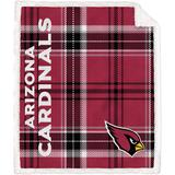 Arizona Cardinals 60'' x 70'' Plaid Ultra Fleece Sherpa Throw Blanket