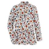Women's Essential Knit Long-Sleeve Button Henley, Ivory Floral S Misses