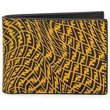 Ff Vertigo Leather Billfold Wallet - Black - Fendi Wallets