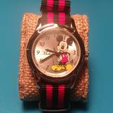 Disney Accessories | Mickey Mouse Watch | Color: Red/Silver | Size: Os