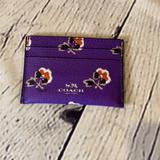 Coach Bags | Coach Multi Slim Card Case Wallet | Color: Purple | Size: Os