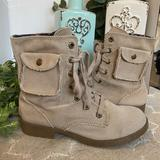 American Eagle Outfitters Shoes   Nwot American Eagle Outfitters Canvas Combat Boots   Color: Tan   Size: 7
