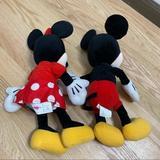 Disney Toys | Mickey & Minnie Mouse Plush Animals Disney Toy Kid | Color: Red/Yellow | Size: Osbb