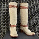 Anthropologie Shoes | Anthro Beltloop Cowboy Boots By Frye | Color: Brown/Tan | Size: 7