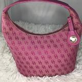 Dooney & Bourke Bags | Dooney & Bourke Pink Small Hobo Tote Signature | Color: Pink | Size: Os