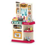 Konbeca kids Kitchen Playset w/ Real Cooking & Water Boiling Sounds, Size 30.0 H x 11.0 W x 23.0 D in | Wayfair I01KHH200602543_A00347