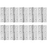 mskey 10 Pcs Stainless Steel Home Furniture Hardware Door Hinge Long 2.15 X 1.3 Inch, Size 2.15 H x 1.3 W x 0.17 D in   Wayfair mskey018c0b3