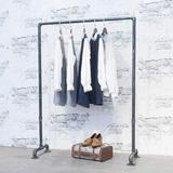 Rebrilliant Industrial Pipe Clothing Rack,Vintage Commercial Grade Pipe Clothes Racks,Garment Racks For Hanging Clothes,Display Racks in Black