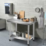 "WFX Utility™ 47""W Adjustable Shelf Height Stainless Steel Top Workbench in Gray, Size 32.0 H x 24.0 D in   Wayfair 01295B41766A4BDF975DFE31480B784F"