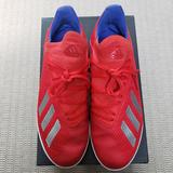 Adidas Shoes   Adidas Kid'S X 18.3 In J Indoor Soccer Shoes   Color: Blue/Red   Size: 5.5b