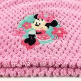 Disney Bedding | B1 Disney Floral Minnie Mouse Hot Pink Knit Baby S | Color: Green/Pink | Size: Os