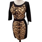 Zara Dresses | Zara W & B Collection Leopard Print Blk Dress | Color: Black | Size: M