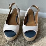Coach Shoes   Coach Hadley Espadrille Wedge Sandal Slingback 6   Color: Cream   Size: 6